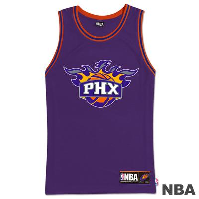 NBA-鳳凰城太陽隊經典印花運動背心-紫