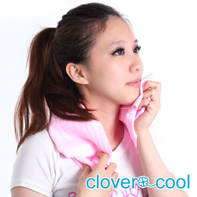 Clover瞬間涼感多用途冰涼巾(大毛巾)-蜜桃粉