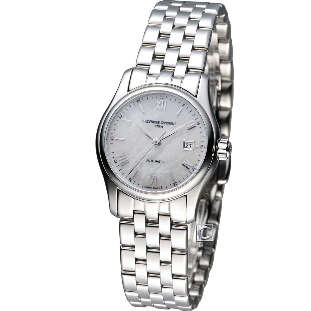 CONSTANT 康斯登 百年典雅機械仕女腕錶-銀/27mm