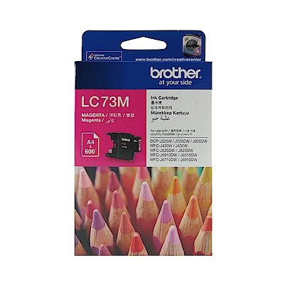 Brother LC73-M 原廠紅色墨水匣