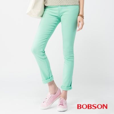 BOBSON 女款高腰大彈力緊身褲(果綠40)