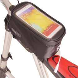 色彩繽紛 自行車觸屏手機置物包(附耳機延長線)-黑色