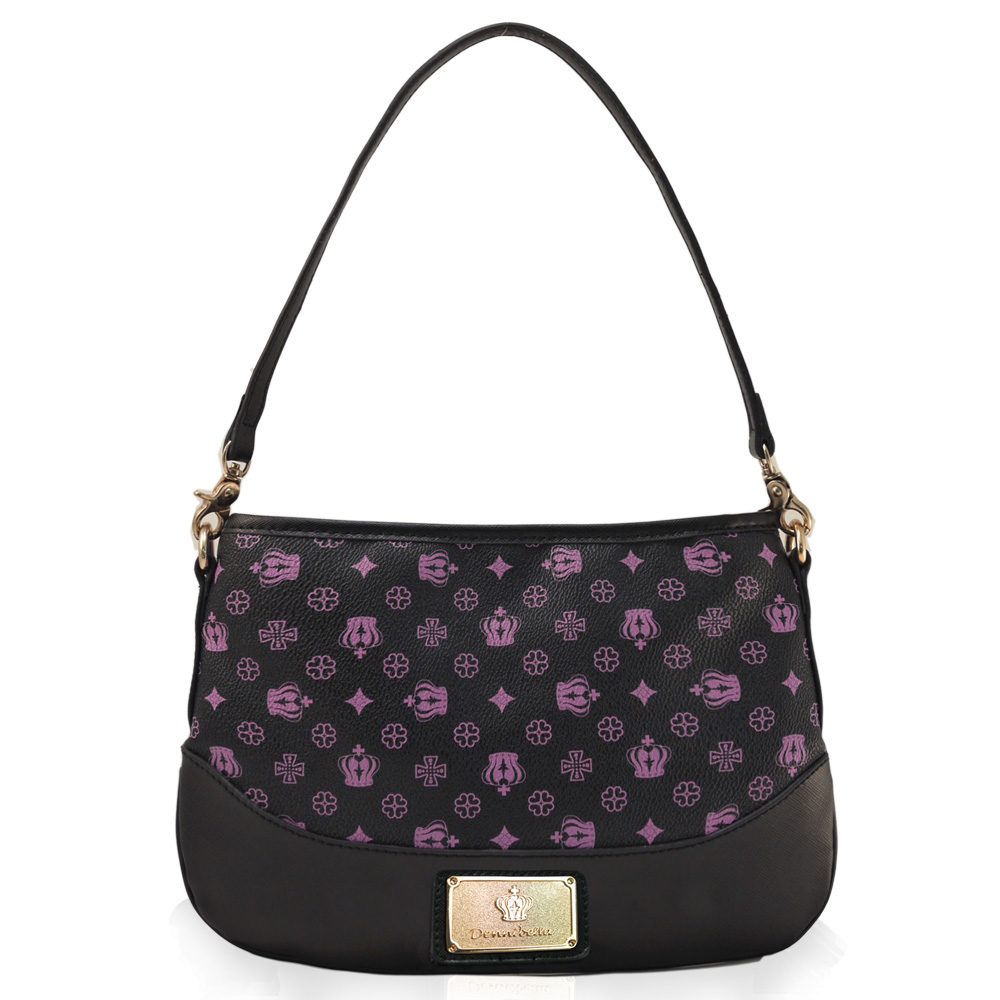 Dennibella 丹妮貝拉-紫色皇冠時尚優雅側背包4D115109-7