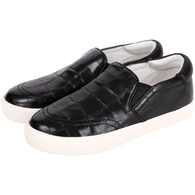 ASH IMPULS 鱷紋設計休閒便鞋(黑色)
