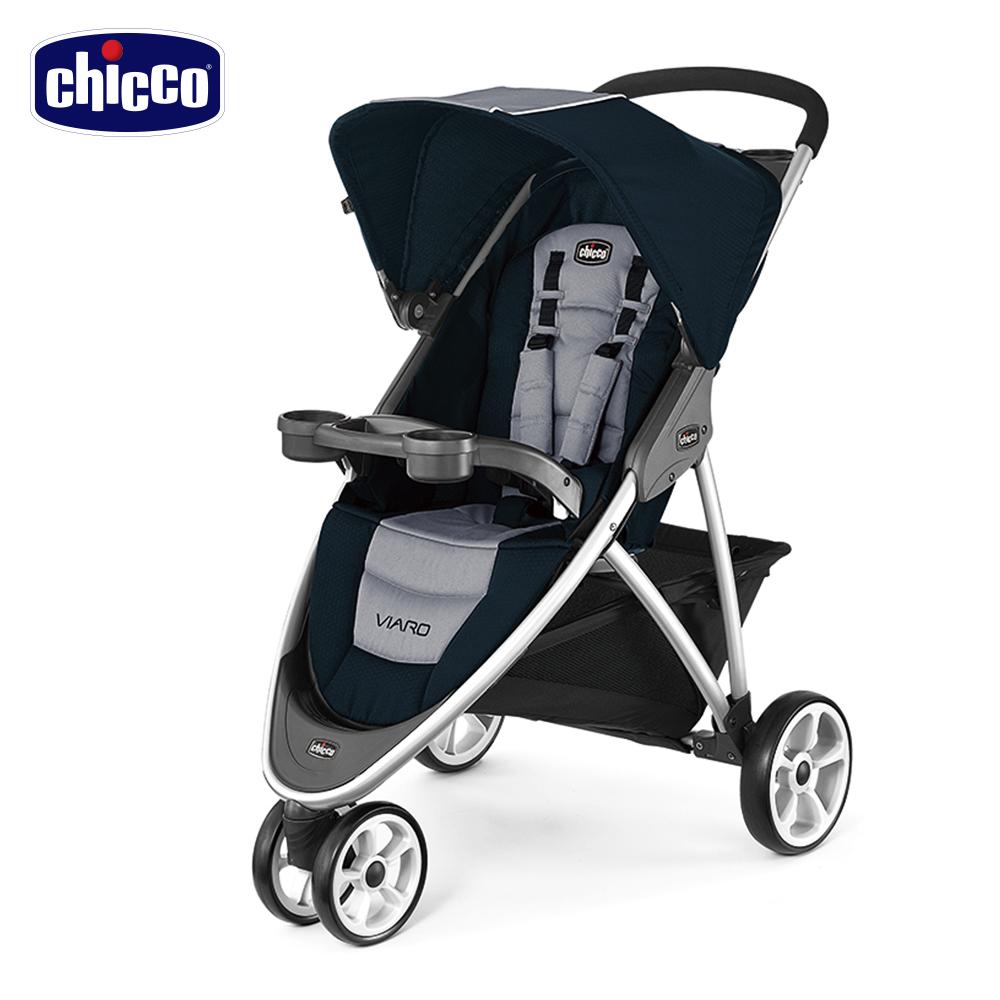 chicco-Viaro運動版三輪推車-星際藍
