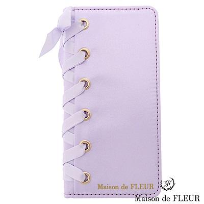 Maison de FLEUR 甜美蝴蝶結緞帶手機殼