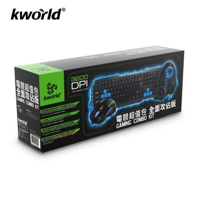 Kworld-電競有線鍵盤-滑鼠-耳麥-全面攻佔版
