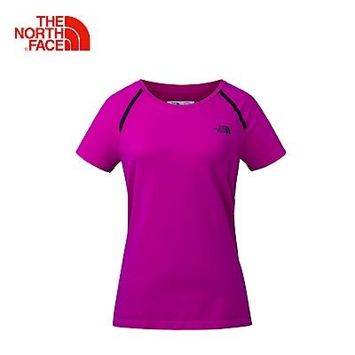 The North Face北面女款粉色休閒短袖T恤