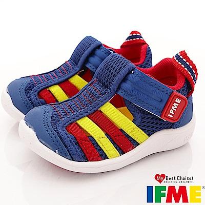IFME健康機能鞋 透氣排水鞋款 EI00436藍 (寶寶段)