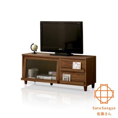 Sato NEFLAS時間旅人二抽一門電視收納櫃‧幅120x39.5x51.5cm