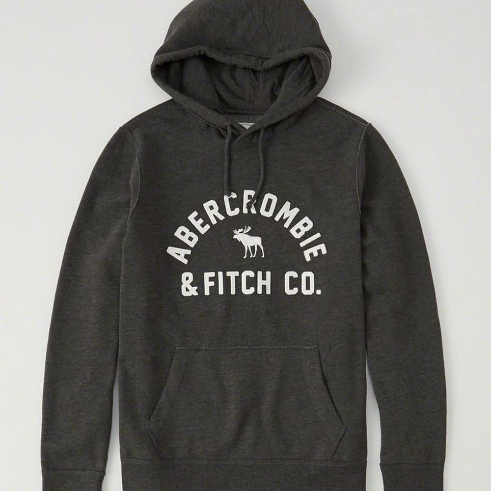 AF a&f Abercrombie & Fitch 帽T 灰色 0547