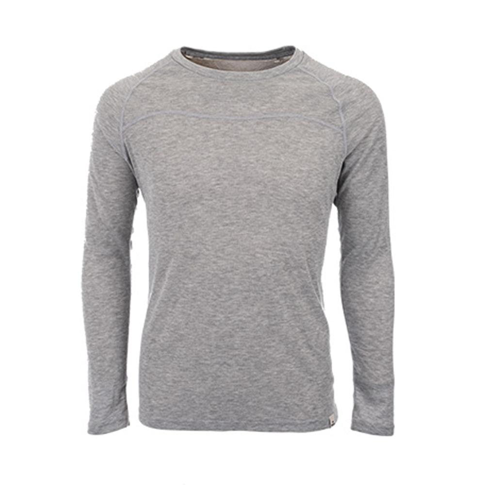【EiDER】男保暖排汗機能型圓領排汗衣淺灰