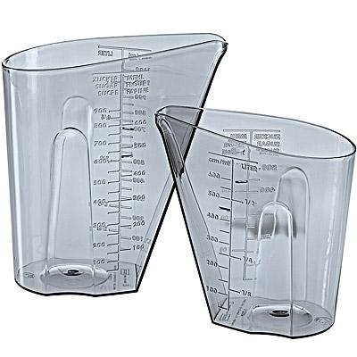 KOZIOL 大小量杯(灰2入)