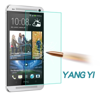 YANG YI揚邑 HTC ONE MAX T6 防爆防刮防眩弧邊 9H鋼化玻璃保護貼膜