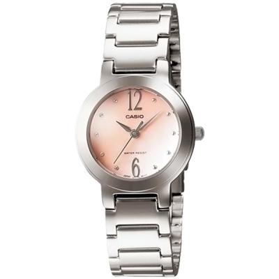 CASIO 珍珠母貝指針淑女錶(LTP-1191A-4A2)-粉膚色/25.5mm