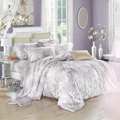 Lily Royal 天絲 雙人-四件式兩用被床包組-白色戀人(灰)