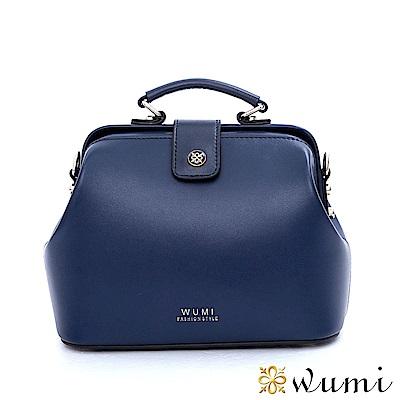 WuMi 無米 真皮帕姬框式醫生包 海軍藍