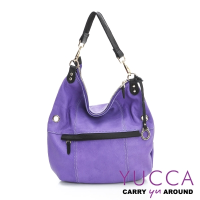 YUCCA - 牛皮多彩造型肩斜背包 -紫色 E6004373C77