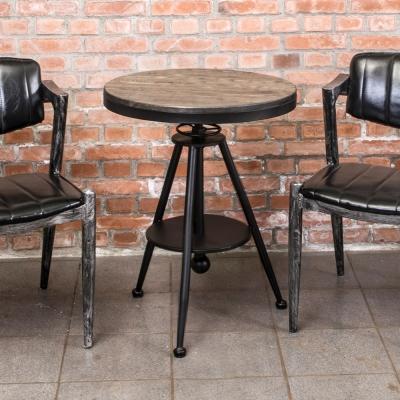 Boden-布蘭頓工業風實木升降小茶几/邊桌/吧台桌-55x55x65cm