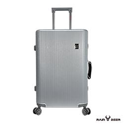 RAIN DEER 24吋秋之旅PC+ABS鋁框行李箱-鈦金銀