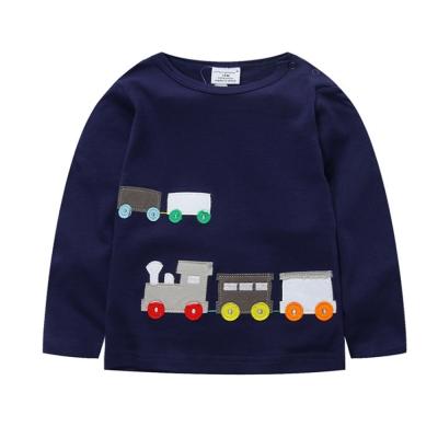 歐美風 嘟嘟火車  男童純棉長袖T恤