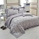 法國-MONTAGUT-歐洲風光-精緻緹花-雙人四件式薄被套床包組