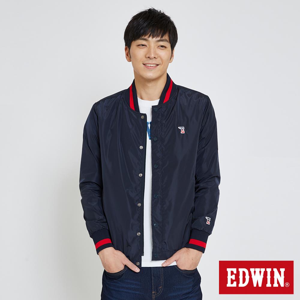 EDWIN 復古教練式單層外套-男-丈青