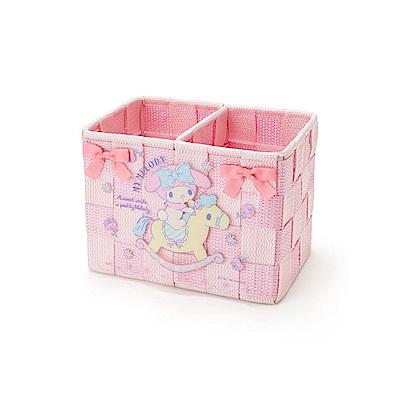 Sanrio 美樂蒂雙色編織置物籃S(搖搖木馬)