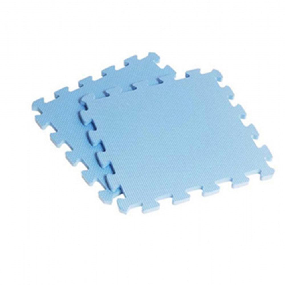 新生活家EVA素面巧拼地墊32x32x1cm-淺藍8入