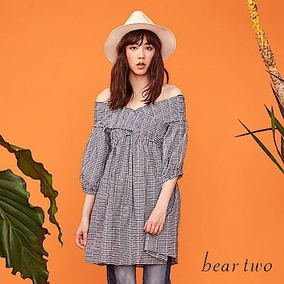 beartwo V領造型彈性娃娃上衣(二色)