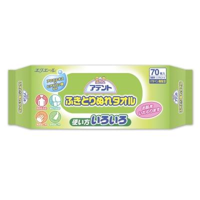 日本大王Attento柔膚濕紙巾(70片/包)