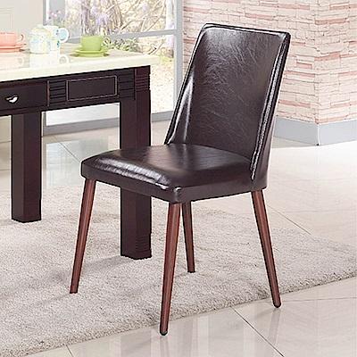 H&D 咖啡色皮面餐椅 (寬50X深52X高88cm)