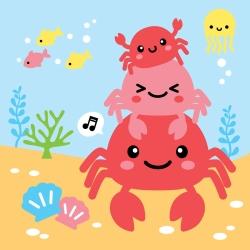 LOVIN 超萌韓版數字油畫 可愛螃蟹(7) 1幅