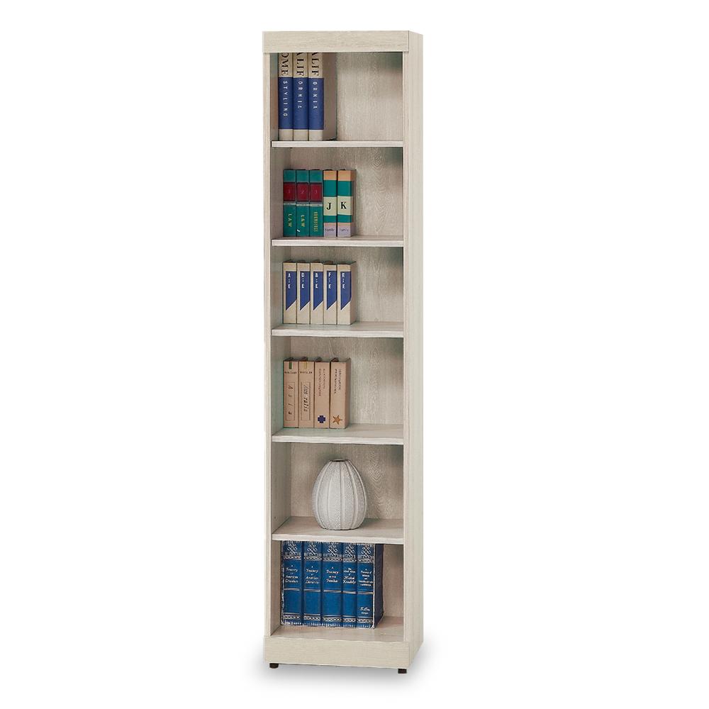 時尚屋 白栓木1.3x6尺開放書櫥  寬40x深33x高180cm