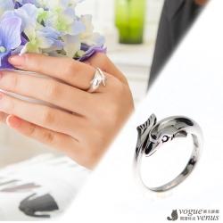 維克維娜 海洋公園,可愛海豚流線美戒 925純銀戒指