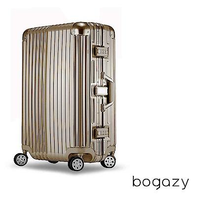 Bogazy 迷幻森林 29吋鋁框PC鏡面行李箱(香檳金)