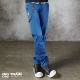 BIG TRAIN 赤青工作褲-男-藍色