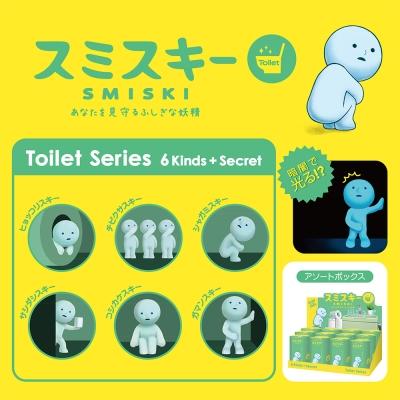 Smiski 不可思議的夜光精靈-廁所大冒險(箱購12入)