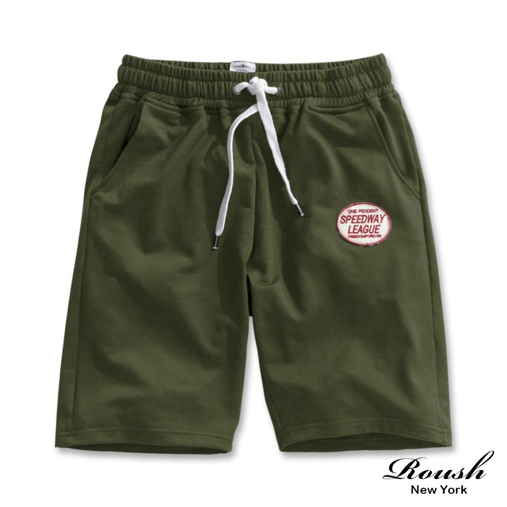 Roush 美式貼布基本款水洗短棉褲(6色)
