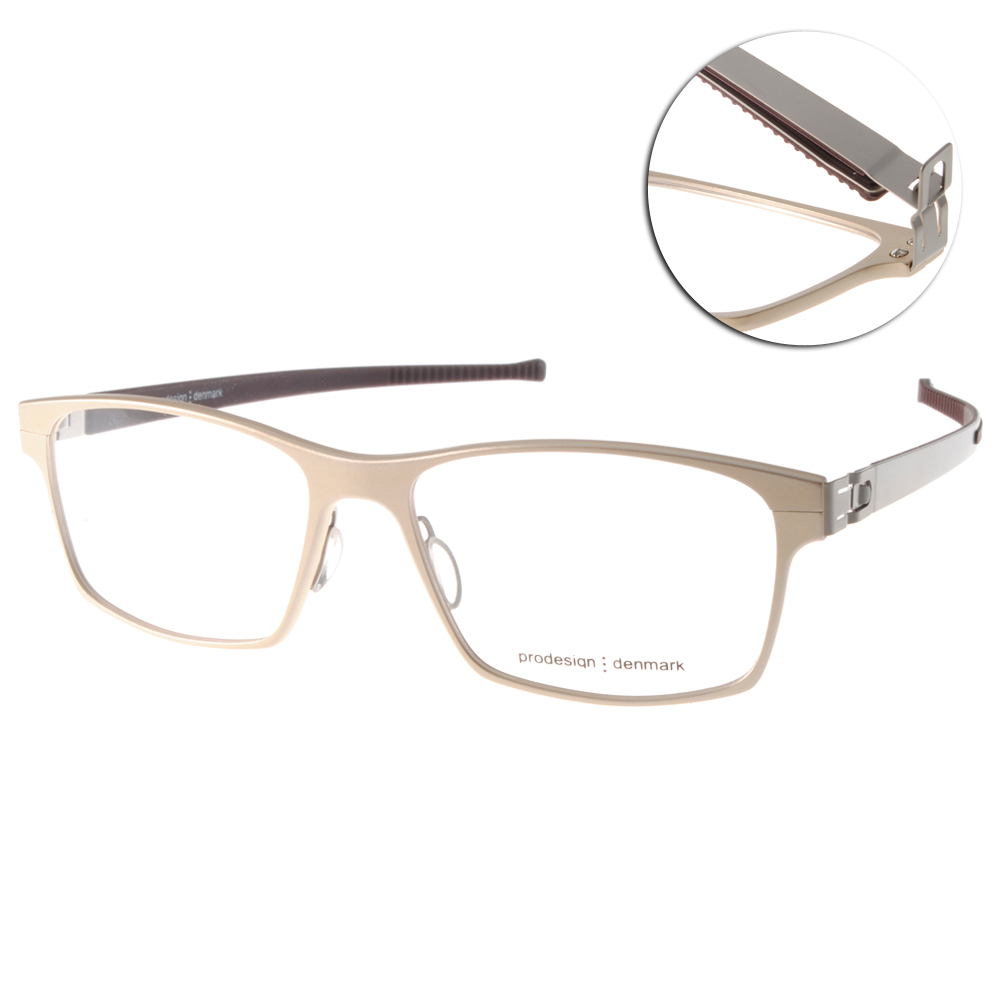 Prodesign Denmark眼鏡 完美工藝/淡金-銀#PRO6907 C2021