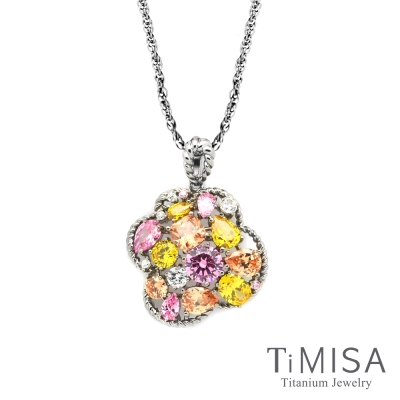 TiMISA 絢麗典藏-朵兒 純鈦項鍊(SB)