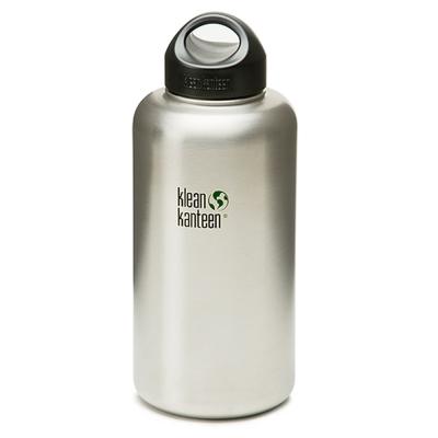 美國Klean Kanteen寬口鋼瓶1893ml-原鋼色