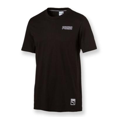 PUMA-男性流行系列Record短袖T恤-黑色-亞碼