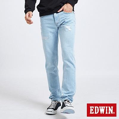 EDWIN 503補丁磨破AB褲 -男-重漂藍