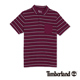 Timberland 男款紫紅色緹花條紋短袖