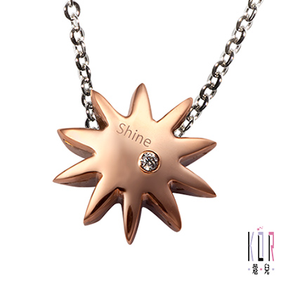 K'or蔻兒 最親的閃耀0.01克拉鑽石 白鋼女項鍊-金