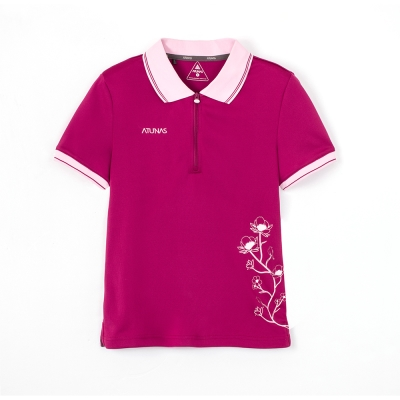 【ATUNAS 歐都納】女款透氣涼爽快乾短袖Polo衫 A-P1206W 紫紅