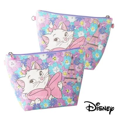 Disney迪士尼華麗經典施華洛世奇水鑽多功能化妝包/萬用包_瑪莉貓