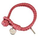 BOTTEGA VENETA 經典純手工編織雙環細嫩小羊皮手環(粉色)