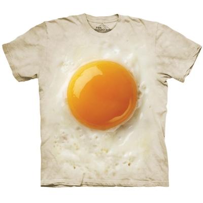 摩達客-美國The Mountain荷包蛋 純棉環保短袖T恤